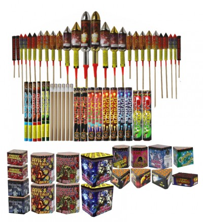 A3 SPACE RAIDER (AERIAL PACK) - 67 FIREWORKS