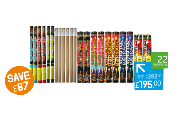 CANDLE PACK 2 - 22 FIREWORKS