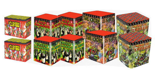 CHINESE BARRAGE PACK 3 - 10  FIREWORKS