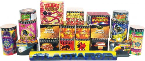 PARTY DISPLAY MAIN PACK - 20 FIREWORKS