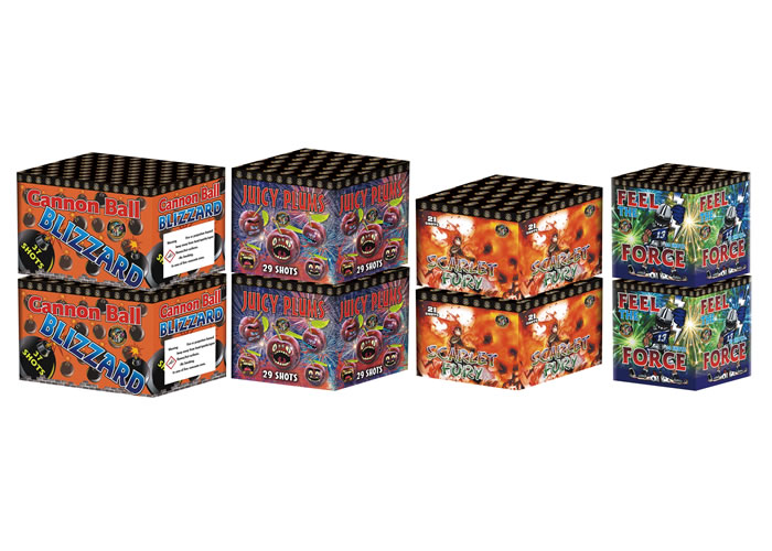 CHINESE BARRAGE PACK 3 - 8  FIREWORKS