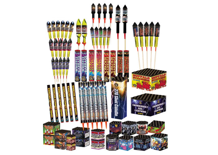 GALAXY MAIN PACK - 75 FIREWORKS