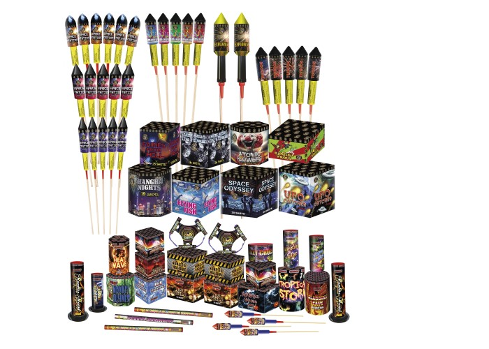 BAR B Q MAIN PACK - 64 FIREWORKS